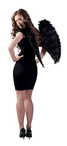 Boland 52815 - Engelsflügel, circa 65 x 65 cm, Einheitsgröߟe, schwarz