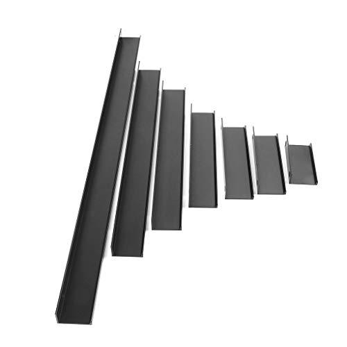 Cuigu Türgriff, Aluminiumlegierung Ziehen Griff Tür ziehen für Schrank Schublade Schrank Kleiderschrank Griff Hardware, Schwarz (600 mm) -
