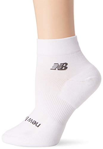 Tight White Collection (New Balance Unisex 1 Pack Technische Elite Tights NBX Olefin Quarter Socken, Unisex-Erwachsene, weiß, Small)