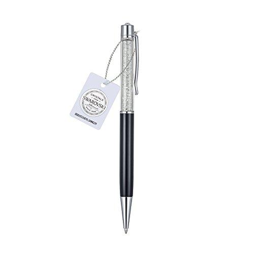 Swarovski cristalli penne elegante veecans penna a sfera retrattile riempito di 200 scintillanti cristalli, forniture per cancelleria scuola ufficio regalo per compleanno/laurea/business, nero