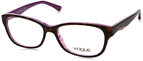 8643eccf01 VOGUE Monture lunettes de vue VO 2814 2019 Top Havane perle violette 53MM