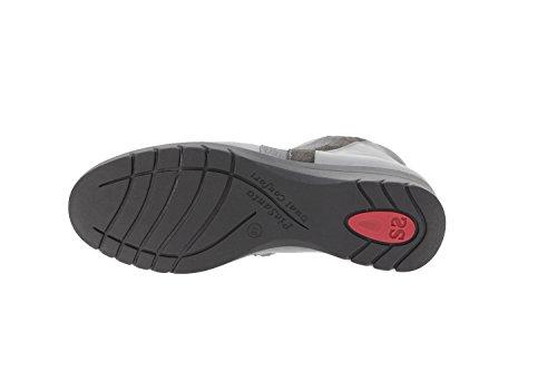 Chaussure femme confort en cuir Piesanto 9973 botte confortables amples Gris