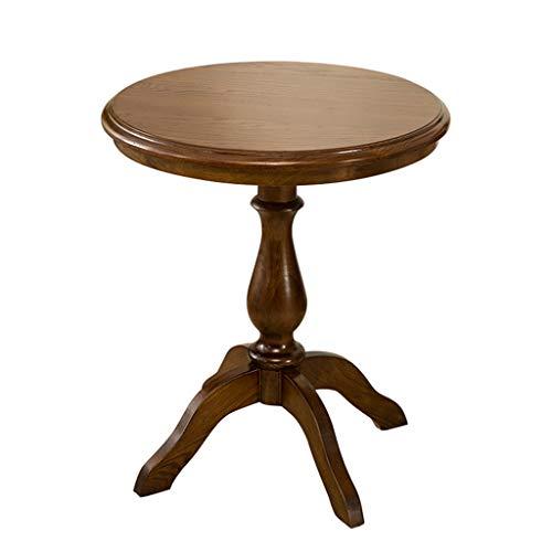 Tables basses Tables Table Basse Ronde Moderne en Bois Massif Simple Table D'appoint Chambre Salon Table Mobile Table De Chevet Table De Téléphone Balcon Table De Loisirs