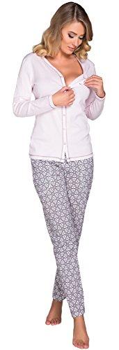 Italian Fashion IF Damen Schlafanzug Hydrangea 0223 (Rosa, M)