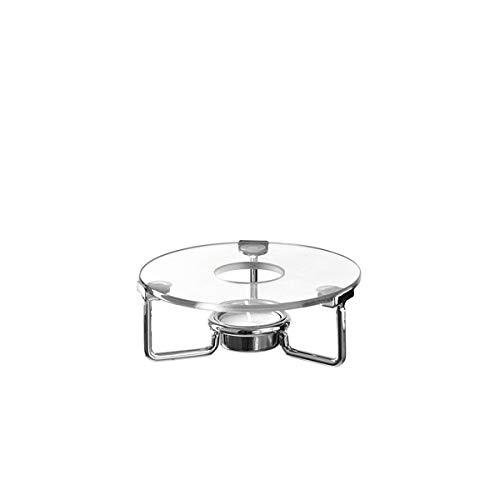 LEONARDO - Limito - GK - Stövchen/Warmhalteplatte - Glas/Metall - (HxBxT) 8 x 15 x 14,5 cm/Ø 14,2 cm