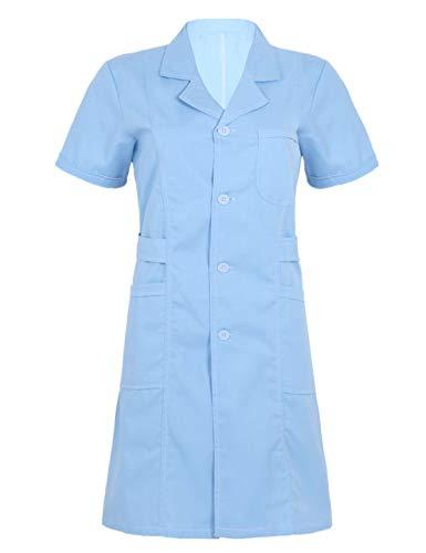 Freebily Uniforme Sanitario Mujer Blanco/Rosa/Azul