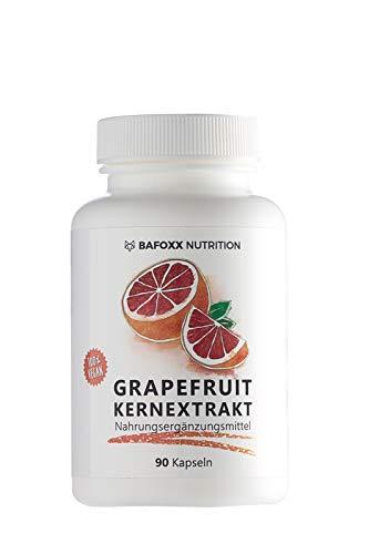 Grapefruitkernextrakt 90 Kapseln - Hochdosiertes Naturprodukt mit 300 mg Extrakt aus Grapefruitkernen - vegan - hergestellt in Deutschland (3 Monatsvorrat)