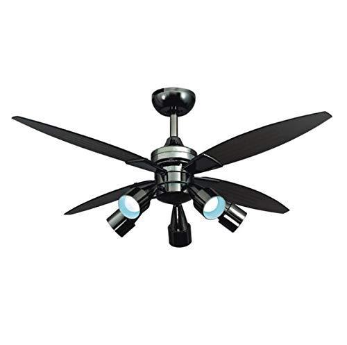 L@LILI Deckenventilator Lampe Iron Art Silent Retro Fan Decke - Ruhiges Bad-fan Mit Licht