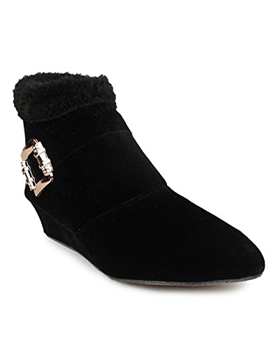 A&S Stylish Fashionable Trendy Footwear Collection - Suede Ankle Boot For Women & Girl