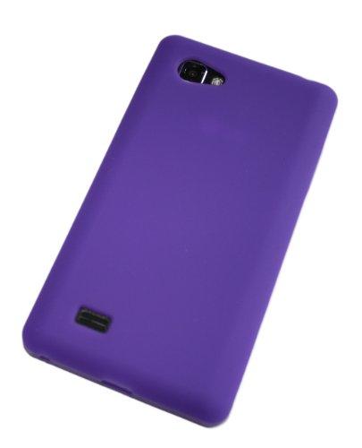 Handycop® Silikon Case Lila für LG P880 Optimus 4x HD - Tasche Silicon Schutz Schutzhülle Hülle Sleeve Purple -