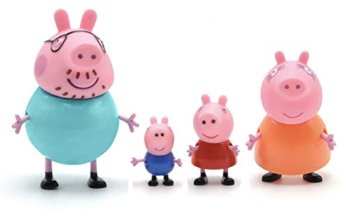Fancydresswale Peppa Pig George Guinea Pig Family Package dad mom 4pcs / Set / Figures Original Pelucia Anime Toys for Children Christmas Gift Toys
