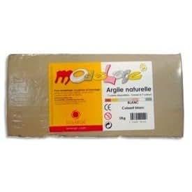 Solargil - Pain de 5 kg - argile naturelle Modelage - grise
