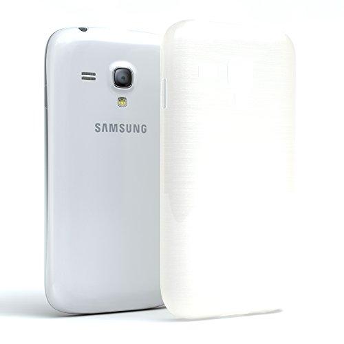 Samsung Galaxy S3 Mini Hülle - EAZY CASE Ultra Slim TPU Handyhülle - dünne Schutzhülle in Hellblau Brushed Weiß