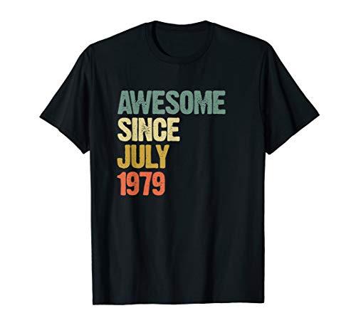 Awesome July 1979 Geboren 40 Jahre Geburtstag Geschenk T-Shirt