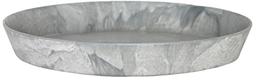 Artstone Round Plant Pot Saucer, Frost-Resistant and Lightweight, 30 x 4 cm, Grey