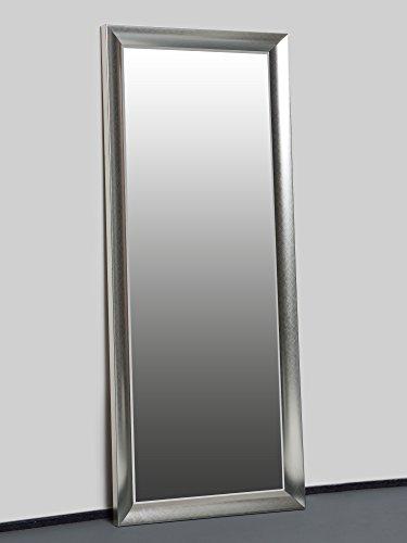 Specchio da parete argento 150 x 60 cm specchio con cornice elegante e  raffinato con bordi smussati nove