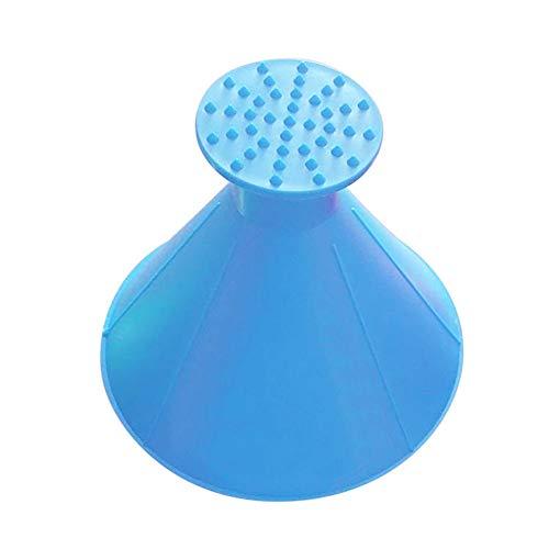 Preisvergleich Produktbild Windschutzscheibe Eiskratzer Runde Magie Kegel-Seitenfenster Schneeschaber Trichter Schneeräumer Schaber Kegel Multifunktionswerkzeug Schneefroschschaufel Werkzeug(Blue-3pcs)