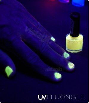 Vernis UV ultra violet fluorescents - 5 ML - JAUNE