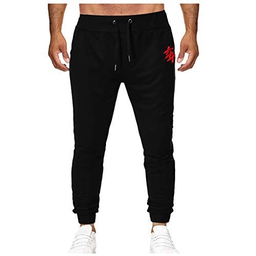 Dwevkeful Herrenhose Brief Drucken Tunnelzughose Trousers Pants Hosen Freizeithose Trainingshose Trekkinghose Jogginghose Bermuda Lose Outdoor Basic