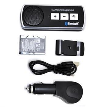 BW Bluetooth Handsfree-Car Kit Lautsprecher Sonnenblende Clip für Handy iPhone 6S 65S 54S 4Samsung Galaxy S5S3i9300und mehr. (Car Kit Für Iphone 5s)