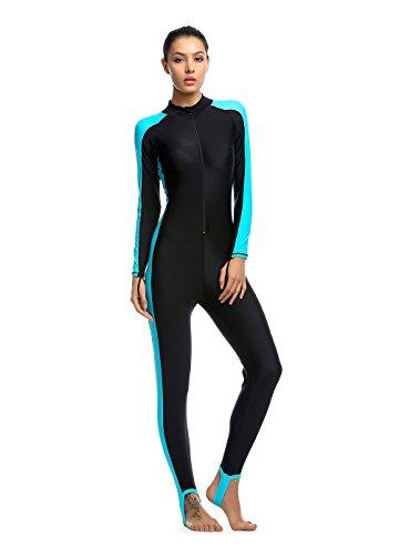 Damen blau S UV-Anzug UPF>50 Schutz swetsuit Schwimmanzug Overall Watersport