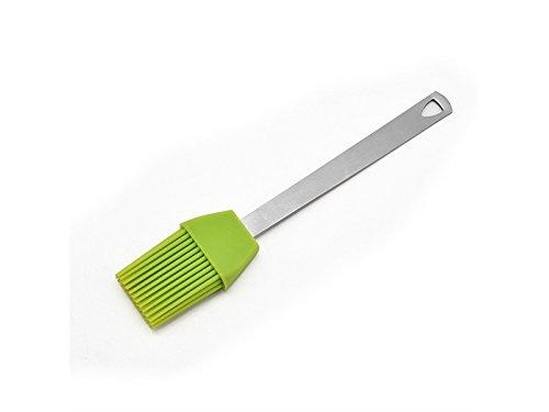 Yyanliii Spaß 3Pcs / Set Silikon Barbecue Brush mit Edelstahl Griff für Outdoor BBQ-Green