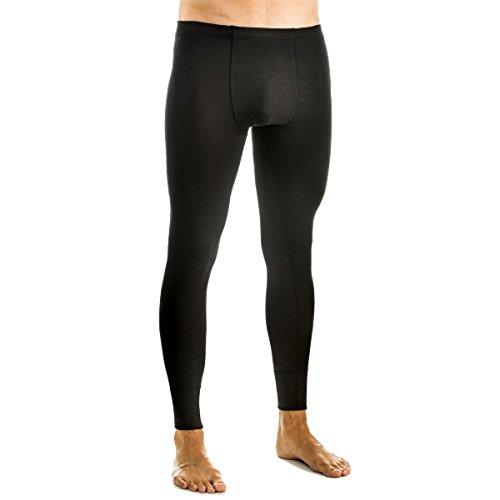 HERMKO 68545 Herren Funktionswäsche lange Unterhosen ohne Eingriff, Farbe:schwarz, Größe:D 5 = EU M