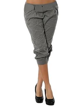 DAYLIN Mujer Fashion Pantalones Capri Pantalon Corto Color Sólido Pantalón