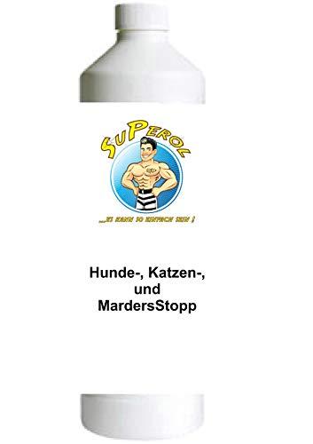 Superol Hunde-, Katzen- und MarderStopp 50gr für 500 ml Hochwirksames Fernhaltemittel gegen Hunde, Katzen, Marder, Kaninchen und Waschbären
