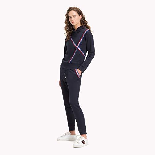 Lou Lou Damen Pullover (Tommy Hilfiger Lou.Cropped Sweatshirts und Fleecejacken Damen Marine - XS - Sweatshirts)