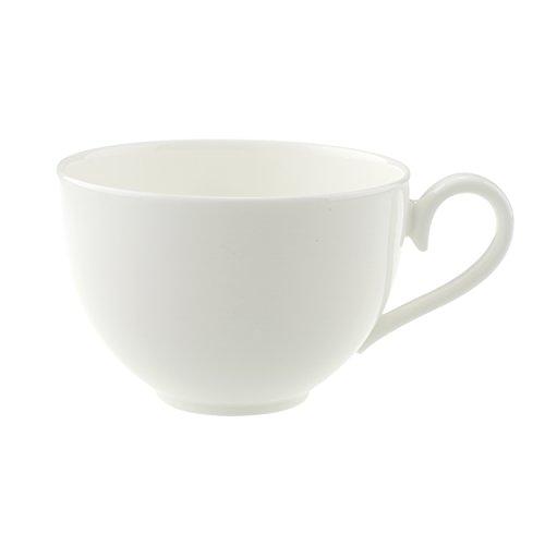 Villeroy & Boch Royal Kaffeetasse, filigrane Tasse mit geschwungenem Henkel aus hochwertigem Premium Bone Porzellan, spülmaschinenfest, 200 ml