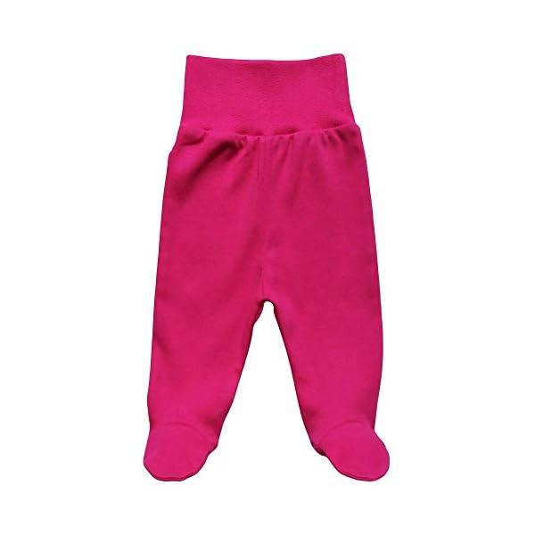 MEA BABY Pantalones unisex para bebé con pie de 100 % algodón en paquete de 5 unidades. Pelele con pie. 2