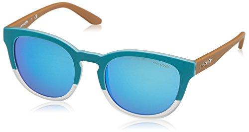Arnette Herren 0AN4230 242125 53 Sonnenbrille, Türkis Turquoise/Matte Crystal/Greenmirrorlightbluee