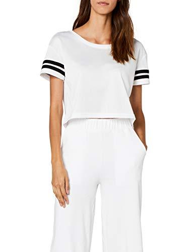 Urban Classics TB1185  Damen T-Shirt Ladies Mesh Short Tee Mehrfarbig (Wht/Blk 224), X-Sma Preisvergleich