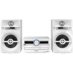 Panasonic SC-Ux104EG Système Mini Audio Domestique Blanc 300 W - Ensembles Audio pour la Maison (Système Mini Audio Domestique, Blanc, Uniforme, 1 Platine(s), 300 W, 2-Voies)