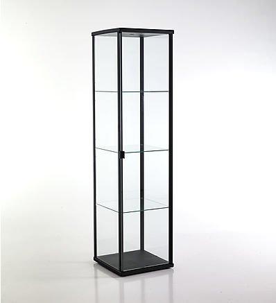 TOMASUCCI vetrina Wow Black nera scaffale in alluminio con vetro temprato 2521