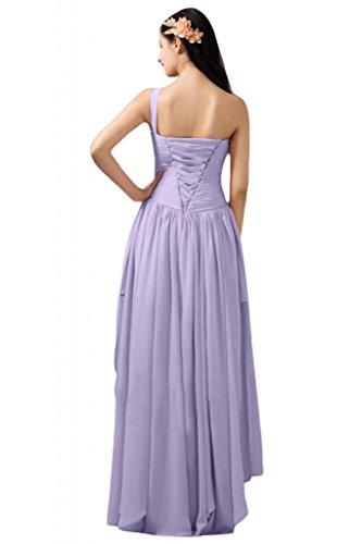 Sunvary donna in Chiffon A-line Hi-Lo spalle per abiti da sera Lilac
