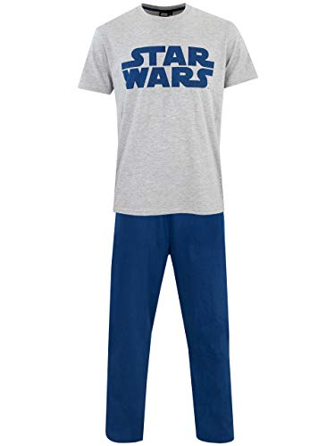 Star Wars Herren Logo Schlafanzug Blau Large