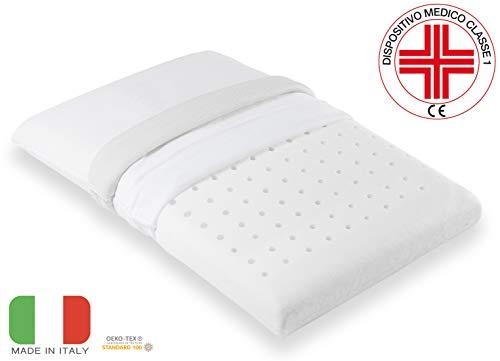 eBedding - 80010 - Memory -  Cuscino Memory Antisoffoco per bambino, culla e lettino, bianco, 50 x 30 x 5,5cm