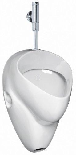 Ceravid MrClever Urinal Zulauf von oben Ablauf nach hinten inkl. Druckspüler im Set, Ceravid C073660