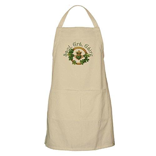 CafePress–Leben, Liebe, Lachen (Irische Sprichwort)–Küche Schürze mit Taschen khaki
