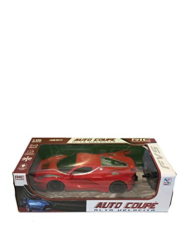 Play More Coupe Racing Car Remote Control Scale 1:16 , Sport Car Radio Controlled car , Formula Toy Car , Racing Car,Ferngesteuertes Auto, Kinderspielzeug Auto (ROT)