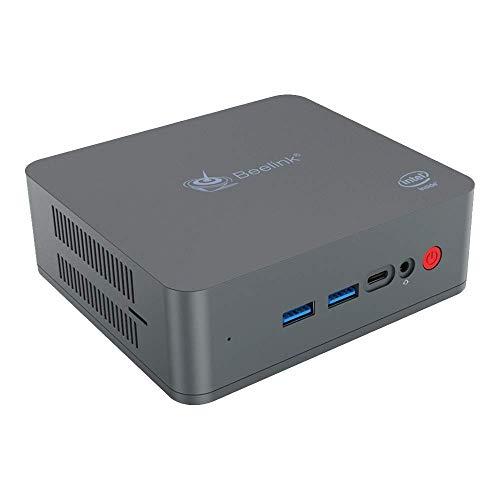 Beelink U55 Mini PC Desktop with Intel Core i3-5005U CPU, 8GB RAM + 256GB SSD, 2.4 + 5.8GHz WiFi, Intel HD Graphics 5500, 4K, H.265, 1000Mbps, BT 4.0, Windows support 10