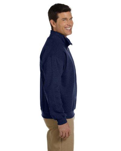 Vintage Quarter Zip Sweatshirt by Gildan - Navy - XL -