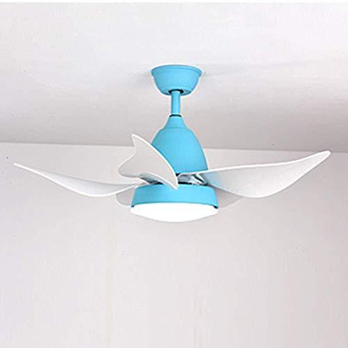 Ventilateur de Plafond Moderne, avec Supports de lumière LED pour Les Ventilateurs de Salon et Support de lumière Bedroomliving Room Bedroom Home Lights Ceiling Lamp (Couleur : Bleu)