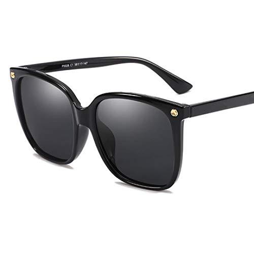 Hjyi Sonnenbrillen für Damen Polarisierte Aluminiumlegierung Rahmen Sonnenbrille Mode Fahren Sonnenbrillen UV400 Gläser Großer Rahmen gegen UV-Schattierung