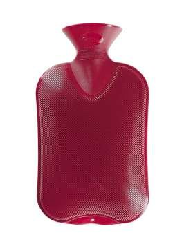 Fashy Wärmflasche Doppellamelle anthrazit, 2 L, 1er Pack (1 x 1 Stück)