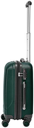 Packenger Velvet Koffer, Trolley, Hartschale  M in Dunkelgrün.   50x34x23cm -