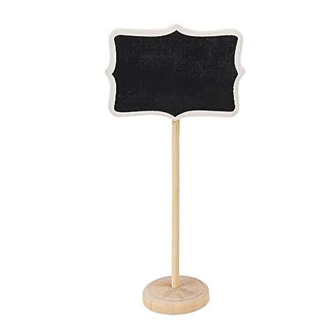 BQLZR 10 x Mini Tableau Noir Avec Socle Carte De Place Wordpad Rectangle ¨¤ angle