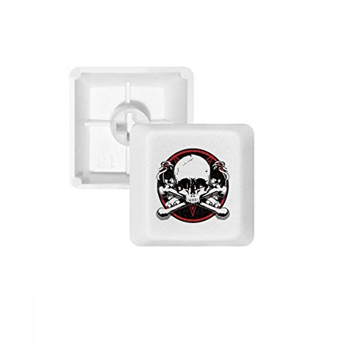 DIYthinker Skeleton Piraten-Dekoration Muster PBT Keycaps für mechanische Tastatur Weiß OEM Keine Markierung ()